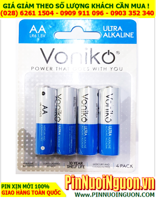 Voniko LR6 _Pin tiểu AA 1.5v Alkaline Voniko LR6 AM3 chính hãng _Vỉ 4 viên