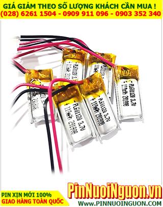 Pin sạc 3.7v Li-polymer LP-601120 (6.0mmx11mmx20mm) 110mAh chính hãng có mạch sẳn| CÓ SẲN HÀNG