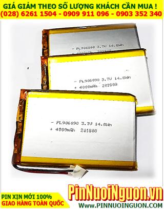 Pin sạc 3.7v Li-polymer LP-906090 (9.0mmx60mmx90mm) 4000mAh chính hãng có mạch sẳn| Có sẳn hàng