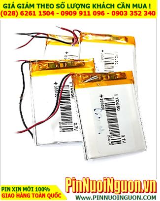 Pin sạc 3,7v Li-Polymer 383450 (3.8mmx34mmx50mm) với 650mAh có mạch sẳn| TẠM HẾT HÀNG