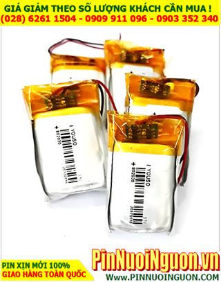 Pin sạc 3.7v Li-polymer 802030 (8.0mmx20mmx30mm) - 400mAh có mạch sẳn| ĐANG CÒN HÀNG