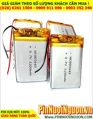 Pin sạc 3.7v Li-Polymer 803443 (8.0mmx34mmx43mm) với 1000mAh có mạch sẳn | ĐANG CÒN HÀNG