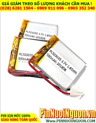 Pin sạc 3,7v Li-Polymer 503535 (5.0mmx35mmx35mm)-850mAh có mạch sẳn | TẠM HẾT HÀNG