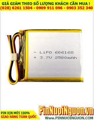 Pin sạc 3,7v Li-Polymer 606168 (6.0mmx6.1mmx6.8mm)với 1800mAh có mạch sẳn| TẠM HẾT HÀNG