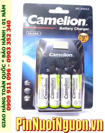 Camelion BC-0905A _Bộ sạc pin BC-0905A kèm 4 pin sạc Camelion NH-AA2500ARBP2 (AA2500mAh 1.2v)
