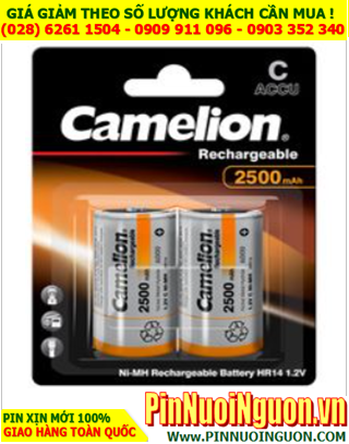 Camelion NH-C2500BP2; Pin sạc C 1.2v Camelion NH-C2500BP2 _Xuất xứ Liên Doanh _Vỉ 2viên   CÒN HÀNG