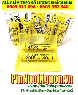 Cell pin box sạc dự phòng _Pin sạc Nitecore IMR18650 2600mAh 3.7v dòng xả 40A chính hãng | HÀNG CÓ SẲN