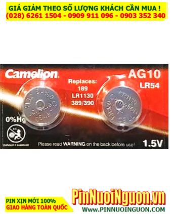 Pin AG10 LR1130 189 -Pin cúc áo 1.5v Alkaline Camelion AG10 LR1130 189 _1viên