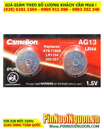 Pin AG13 LR44 A76; Pin cúc áo 1.5v Alkaline Camelion AG13-LR44-A76 _ 1viên
