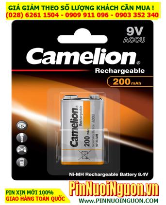 Camelion NH-9V200BP1; Pin sạc 9v NH-9V200BP1 (200mAh) Thế hệ mới -Liên doanh Đức-China _Vỉ 1viên