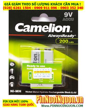 Camelion NH-9V200ARBP1; Pin sạc 9v Camelion NH-9V200ARBP1 AlwaysReady 200mAh_Vỉ 1viên