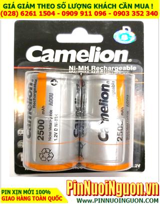 Camelion D2500mAh_Pin sạc đại D 1.2v 2500mAh Camelion NH-D2500BP2 chính hãng _Vỉ 2 viên_Mẫu mới