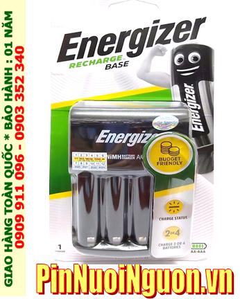Energizer CHVC4; Máy sạc pin Energizer CHVC4 _ 04 khe sạc _Sạc được 1,2,3,4 pin AA-AAA (không kèm Pin) _Mẫu mới