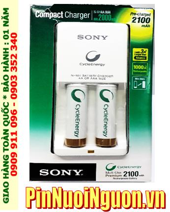 Bộ sạc pin AAA 2 rảnh Sony BCG-34HW2KN kèm sẳn 2 pin sạc Sony AAA800mAh Made in Japan| HẾT HÀNG