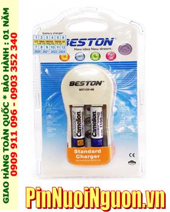 Bộ sạc pin AAA Beston BST-C814B kèm sẳn 2 pin sạc Camelion AAA1100mAh Lockbox 1.2v