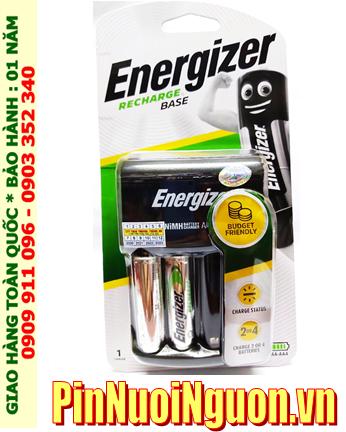 Bộ sạc pin AA Energizer CHVC4 (2AA2300mAh), kèm sẳn 2 pin sạc Energizer AA2300mAh 1.2v _Mẫu mới