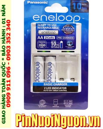 Eneloop BQ-CC51E; Bộ sạc pin AA Panasonic BQ-CC51E kèm sẳn 2 pin sạc Eneloop AA1900mAh 1.2v