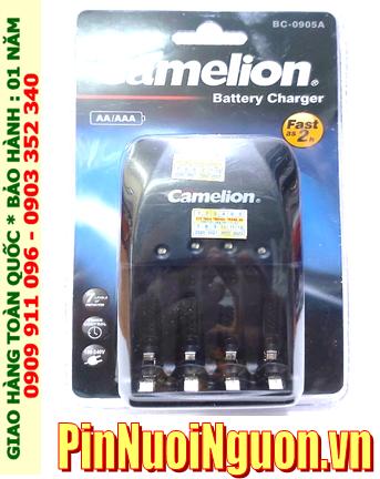 Camelion Energizer CHVC4; Máy sạc Camelion BC-0905A _04 khe sạc _Sạc 2giờ _Sac được 1,2,3,4 pin AA-AAA