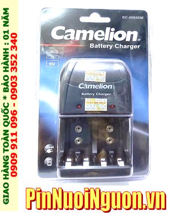 Camelion Energizer CHVC4; Máy sạc pin Camelion BC-0904SM _ 04 khe sạc _Sạc được 2-4 Pin AA-AAA-9v