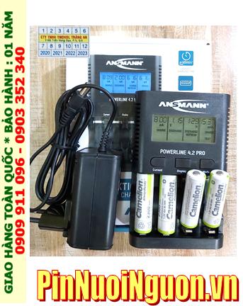 Ansman Powerline 4.2Pro _ Bộ sạc kèm 4 pin sạc Camelion AlwaysReady NH-AA2300ARBP2 1.2v