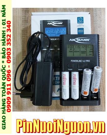 Ansman Powerline 4.2Pro _Bộ sạc pin Powerline 4.2Pro kèm 4 pin sạc Fujitsu HR-3UTC(4B) AA1900mAh _Japan