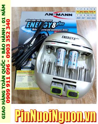 Enenrgy 8Plus _Bộ sạc pin Enenrgy 8Plus kèm 4 pin (2Pin C Ansman C4500mAh & 2Pin sạc Ansman E200)