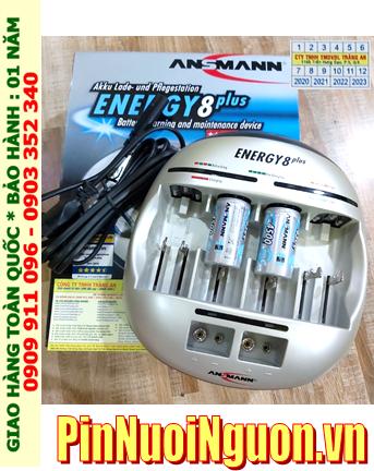 Energy 8Plus _Bộ sạc pin Energy 8Plus kèm 2 pin sạc C Ansman C4500mAh 1.2v