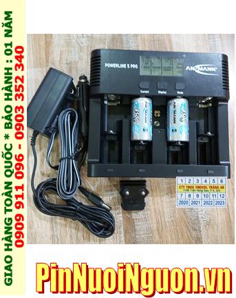 Powerline 5Pro _Bộ sạc Powerline 5Pro kèm 2 pin sạc C Ansman C4500mAh 1.2v