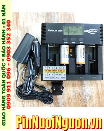 Powerline 5Pro _Bộ sạc Powerline 5Pro kèm 2 pin sạc C Camelion NH-C3500BP2 (C3500mAh 1.2v)