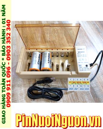 Super BC-2500 _Bộ sạc pin BC-2500 kèm 2 pin sạc D Camelion NH-D10 000BP2 (D10 000mAh 1.2v)