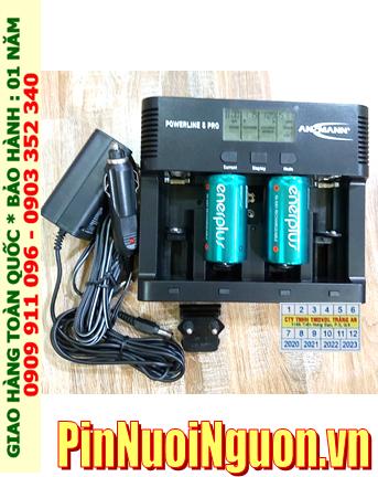 Powerline 5Pro_Bộ sạc pin Powerline 5Pro kèm 2 pin sạc D EnerPlus D5000mAh 1.2v