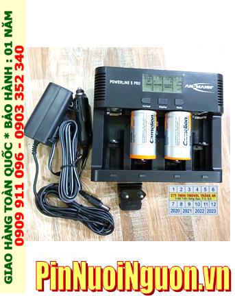 Powerline 5Pro_Bộ sạc pin Powerline 5Pro kèm 2 pin sạc D Camelion NH-D10 000BP2 (D10 000mAh 1.2v)