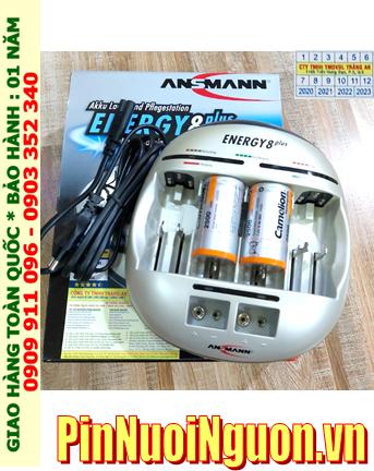 Energy 8Plus _Bộ sạc pin Powerline 5Pro kèm 2 pin sạc D Camelion NH-D10 000BP2 (D10 000mAh 1.2v)