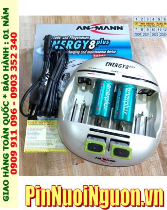 Energy 8Plus _Bộ sạc kèm 4 pin (2 Pin sạc D EnerPlus D5000mAh & 2 pin sạc 9v Camelion NH-9V200BP1)