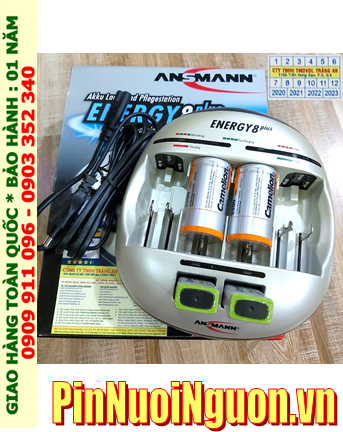 Energy 8Plus _Bộ sạc kèm 4 pin (2 Pin sạc D Camelion D2500mAh & 2 pin sạc 9v Camelion NH-9V200BP1)