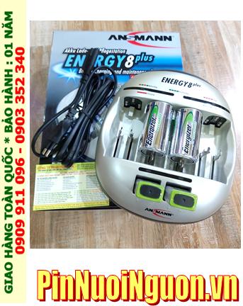 Energy 8Plus _Bộ sạc kèm 4 pin (2 Pin sạc D Energizer D2500mAh & 2 pin sạc 9v Energizer 175mAh)