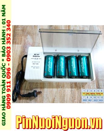 Delipow DLP-808 _Bộ sạc pin DLP-808 kèm 4 pin sạc C EnerPlus C5000mAh 1.2v |HẾT HÀNG