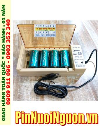 Super BC-2500 _Bộ sạc pin BC-2500 kèm 4 pin sạc C EnerPlus C5000mAh 1.2v |HẾT HÀNG