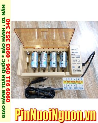 Super BC-2500 _Bộ sạc pin BC-2500 kèm 4 pin sạc C Ansman C4500mAh 1.2v