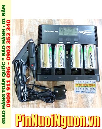 Powerline 5Pro _Bộ sạc pin Powerline 5Pro kèm 4 pin sạc C Energizer NH35-BP2 (C2500mAh 1.2v)