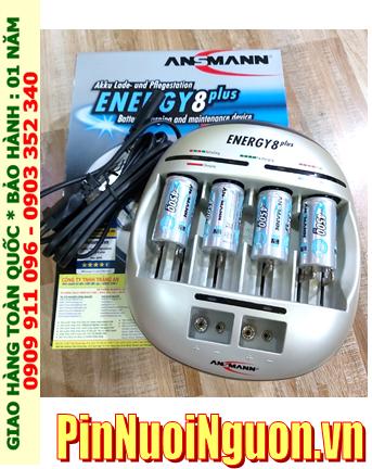 Energy 8Plus _Bộ sạc Pin Energy 8Plus kèm 4 pin sạc C Ansman C4500mAh 1.2v