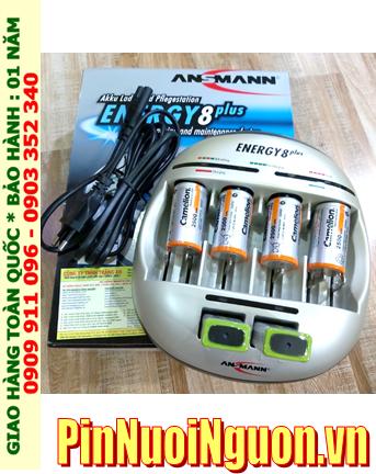Energy 8Plus _Bộ sạc kèm 6 pin (2Pin sạc C Camelion C3500mAh & 2 pin sạc 9v Camelion 200mAh)