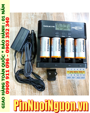 Powerline 5Pro _Bộ sạc Pin Powerline 5Pro kèm 4 pin sạc D Camelion NH-D2500BP2 (D2500mAh 1.2v)