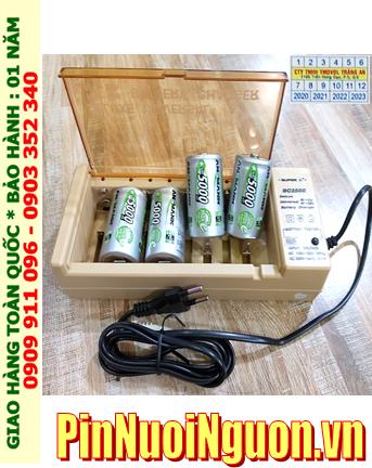 Super BC-2500 _Bộ sạc Pin BC-2500 kèm 4 pin sạc D Ansman D5000mAh 1.2v