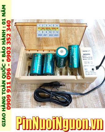 Super BC-2500 _Bộ sạc Pin BC-2500 kèm 4 pin sạc D EnerPlus D5000mAh 1.2v