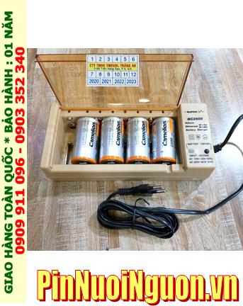 Super BC-2500 _Bộ sạc Pin BC-2500 kèm 4 pin sạc D Camelion NH-D2500BP2 (D2500mAh 1.2v)
