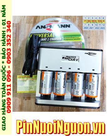PhotoCam V _Bộ sạc Pin PhotoCam V kèm 4 pin sạc D Camelion NH-D2500BP2 (D2500mAh 1.2v)
