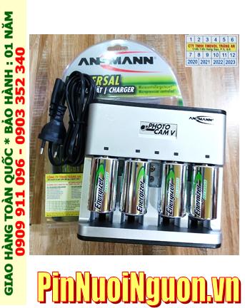 PhotoCam V _Bộ sạc Pin PhotoCam V kèm 4 pin sạc D Energixer NH50-BP2 (D2500mAh 1.2v)