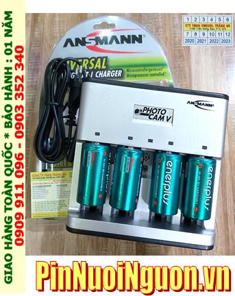 PhotoCam V _Bộ sạc Pin PhotoCam V kèm 4 pin sạc D EnerPlus D5000mAh 1.2v