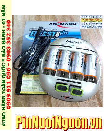 Energy 8Plus _Bộ sạc Energy 8Plus kèm 6 Pin (4Pin sạc D Camelion D10 000mAh & 2 pin sạc 9v Camelion 9v200mAh)
